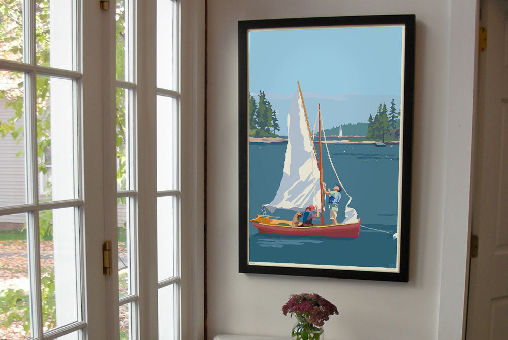 "Hoist The Sail Art Print 24"" x 36"" Framed Wall Poster By Alan Claude"