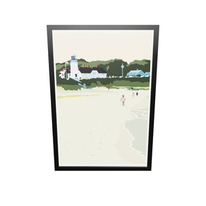 "Chatham Lighthouse Kids Art Print 36"" x 53"" Framed Wall Poster - Massachusetts"