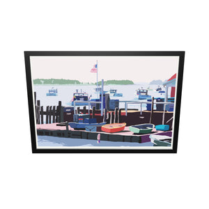 "Spruce Head Island Art Print 36"" x 53"" Framed Wall Poster - Maine"