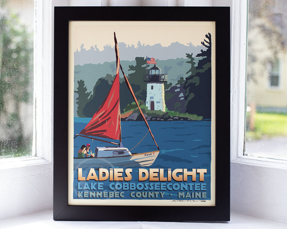 "Sailing Ladies Delight Art Print 8"" x 10"" Framed Travel Poster"