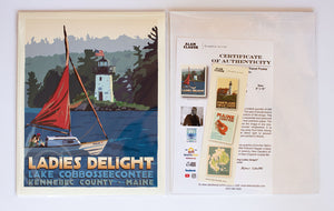 "Sailing Ladies Delight Art Print 8"" x 10"" Travel Poster - Maine Alan Claude"