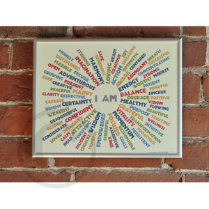 "I AM Balance - Retro Art Print 8"" x 10"" Framed"