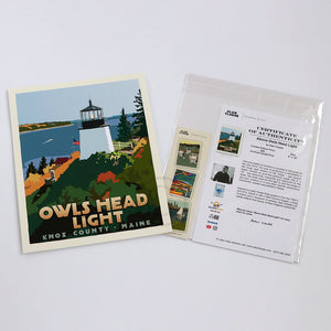 Owls Head Light Art Print