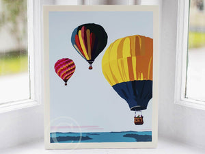 "Balloons Over Islands Art Print 8"" x 10"" Wall Poster"