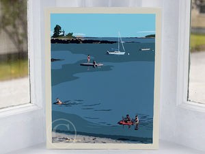 "Ocean Point Swimmers Art Print 8"" x 10"" Wall Poster by Alan Claude"
