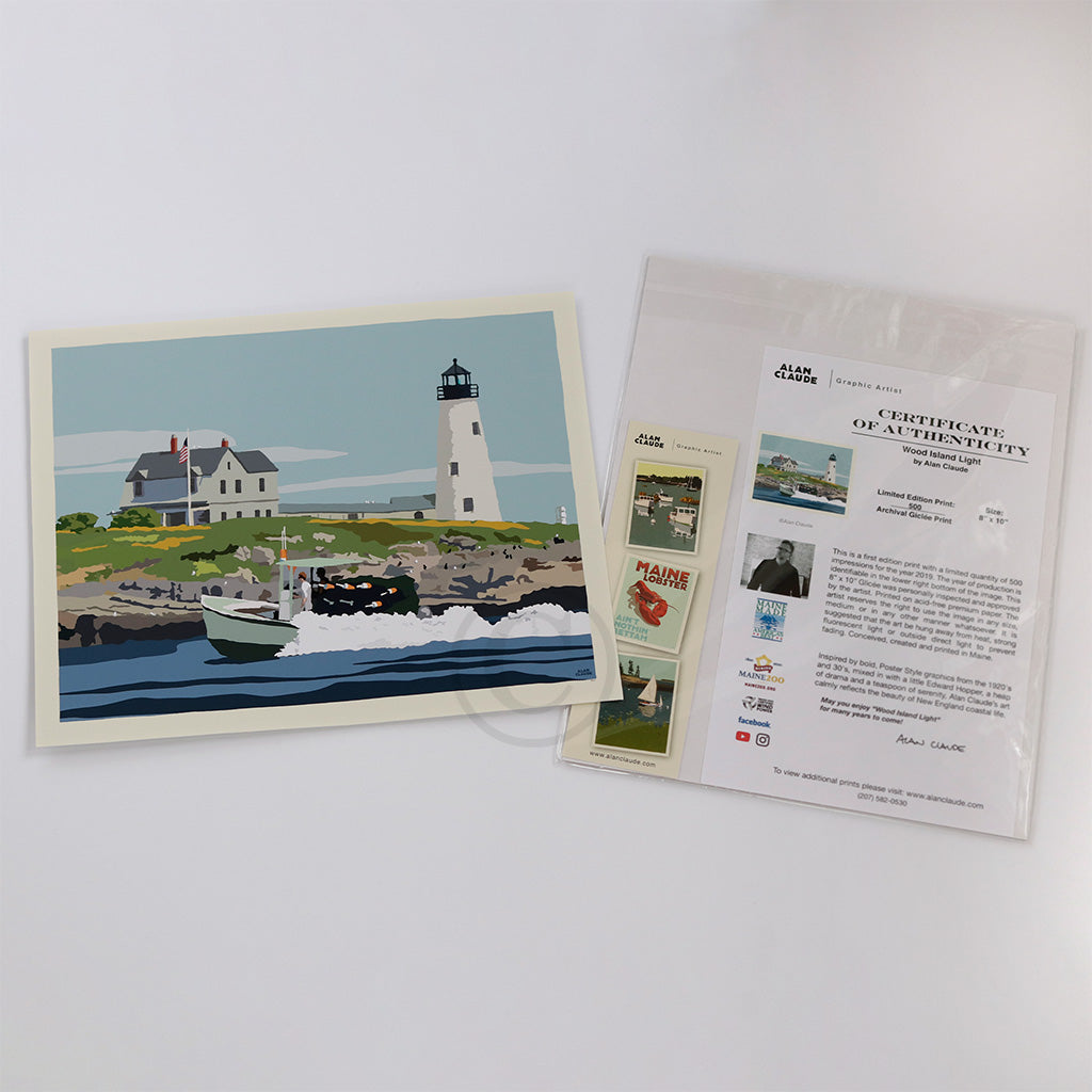 Wood Island Light Art Print