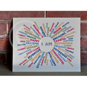 "I AM YOUTH MINDFULNESS - Retro Art Print 8"" x 10"" Wall Poster"