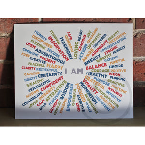 "I AM BALANCE - Retro Art Print 8"" x 10"" Wall Poster"