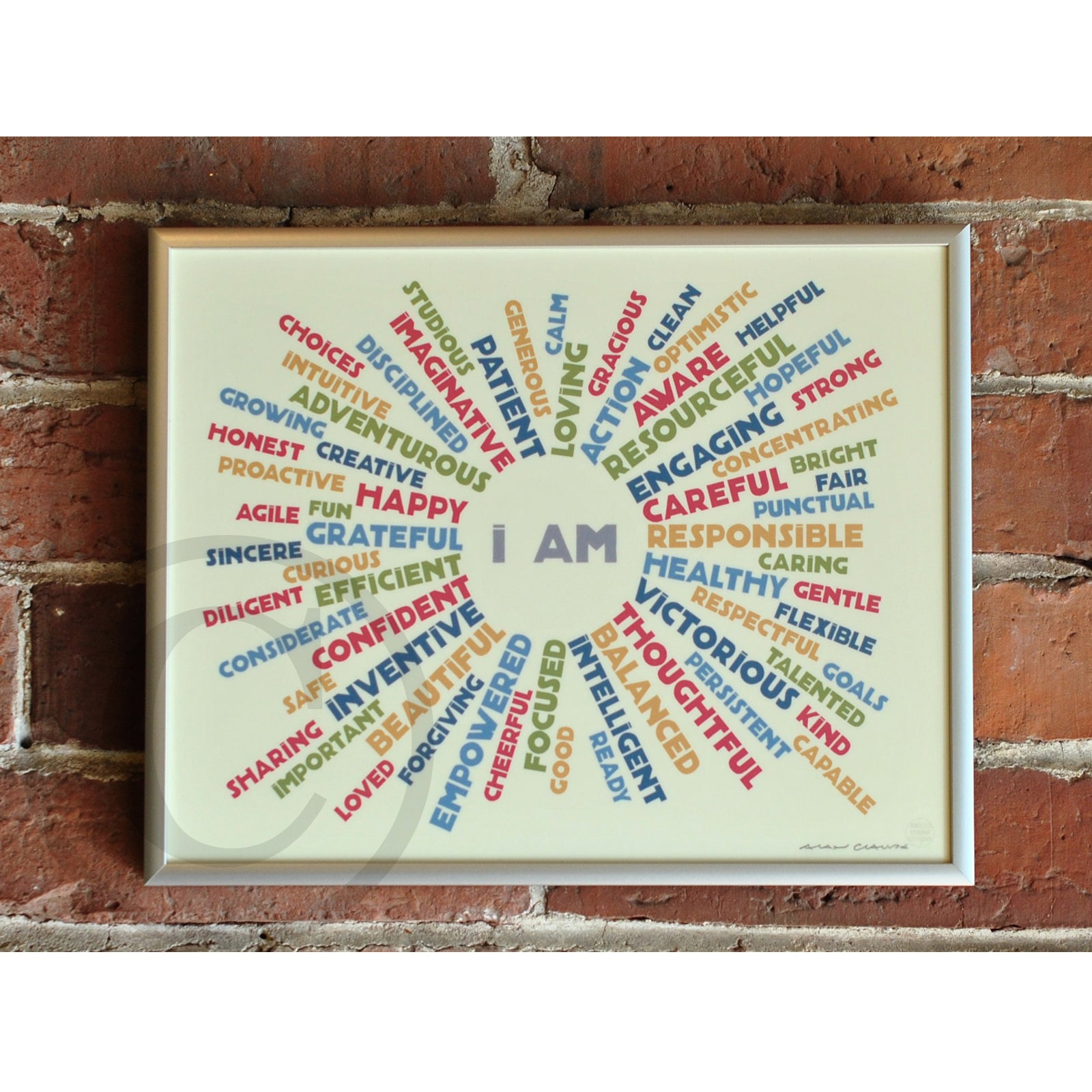 "I AM YOUTH MINDFULNESS - Retro Art Print 8"" x 10"" Framed"