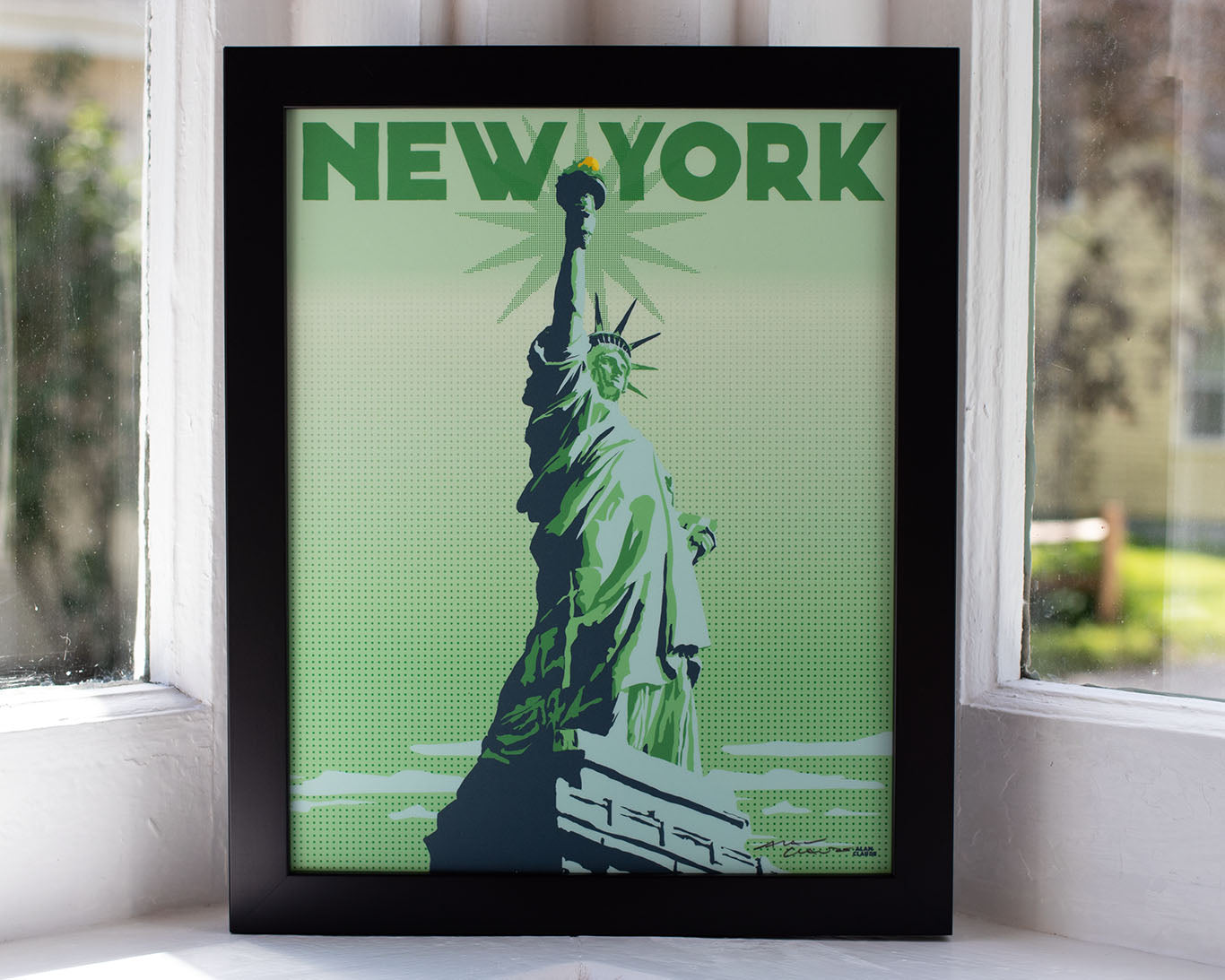 "Statue Of Liberty Framed Art Print 8"" x 10"" Travel Poster - New York"