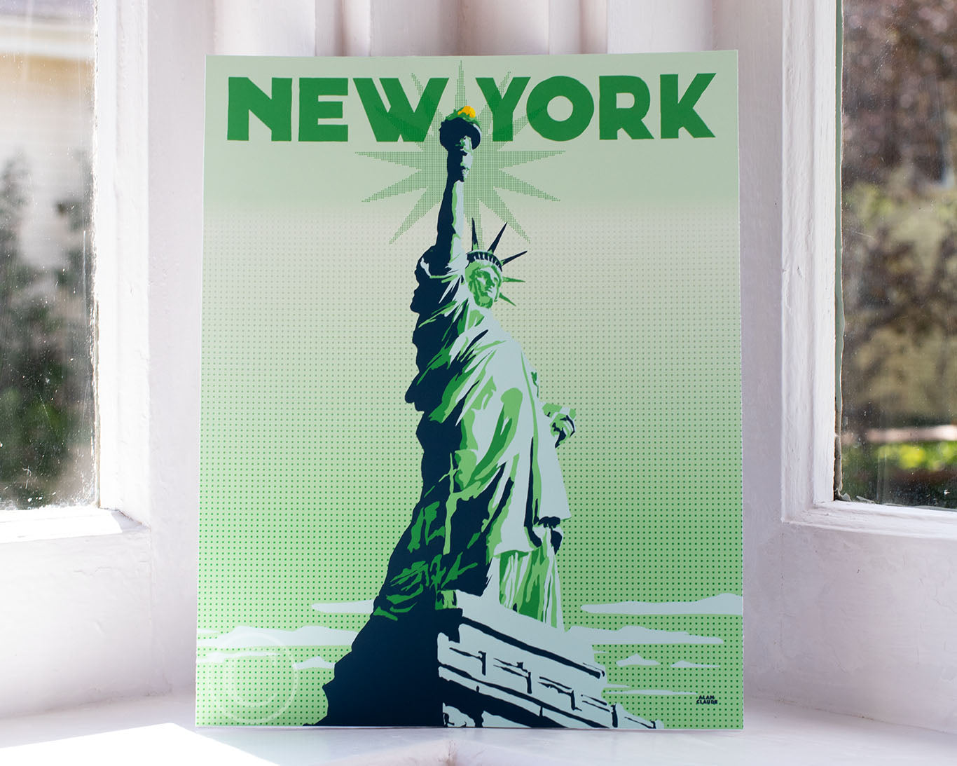 "Statue Of Liberty Art Print 8"" x 10"" Travel Poster - New York"