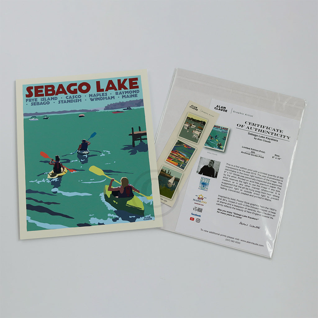 Sebago Lake Kayakers Art Print
