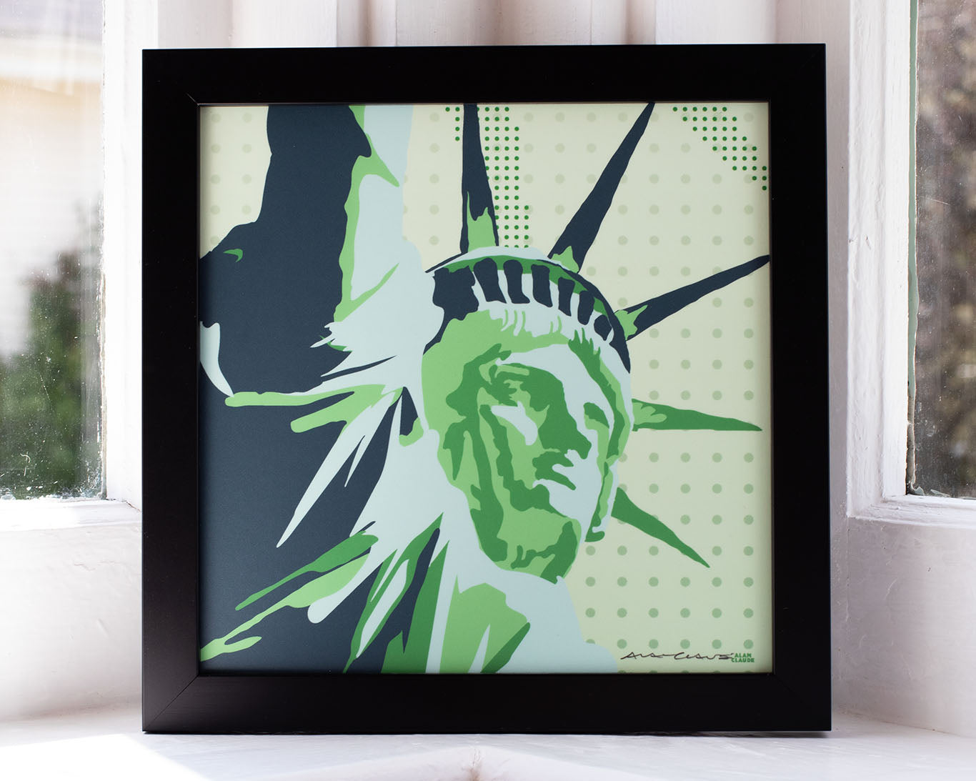 "Statue Of Liberty Framed Art Print 8"" x 8"" Wall Poster - New York"