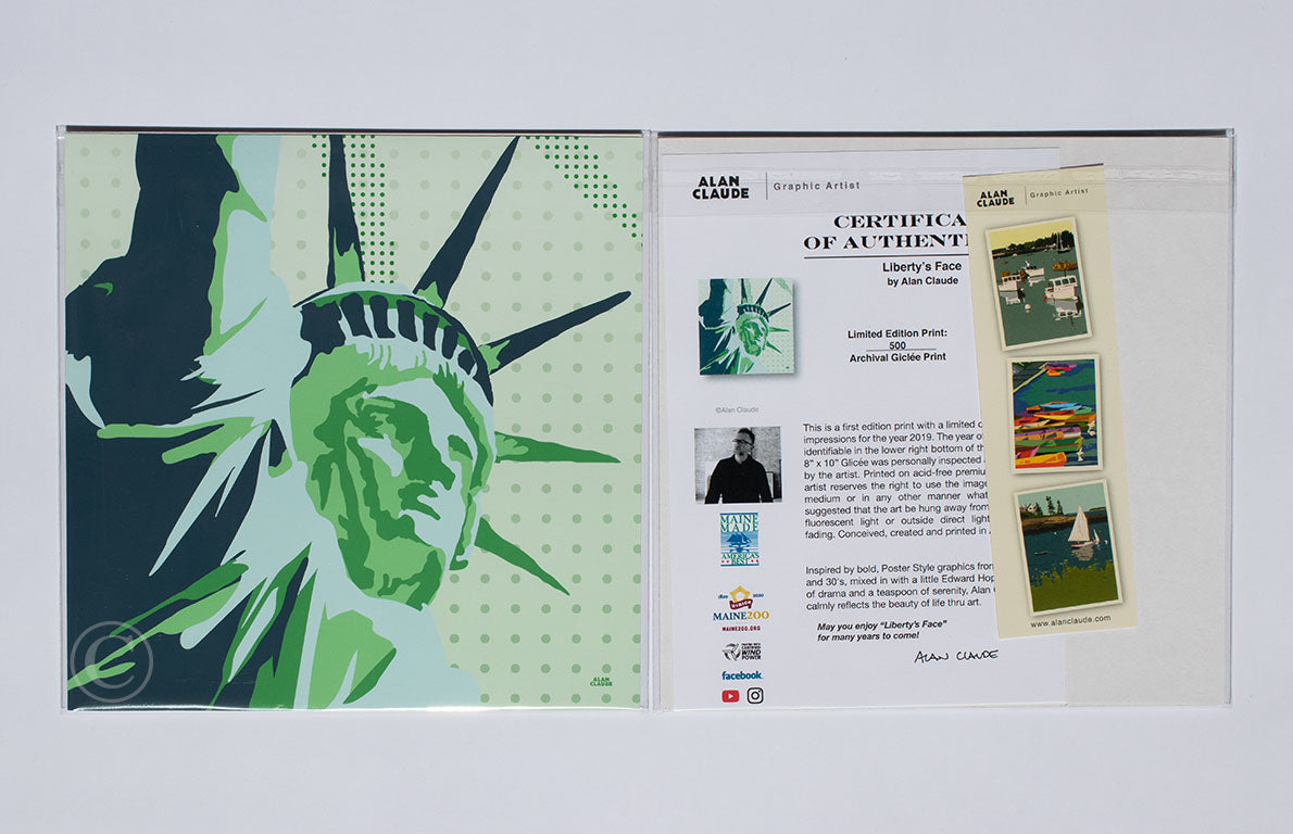 "Statue Of Liberty Art Print 8"" x 8"" Wall Poster - New York"
