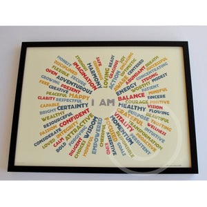 "I AM Balance Art Print 18"" x 24"" Framed"