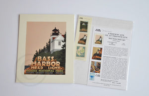 "Bass Harbor Head Light Art Print 8"" x 10"" Travel Poster - Maine"