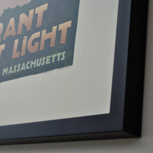 "Brant Point Light Art Print 18"" x 24"" Framed Travel Poster - Massachusetts"