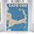 Cape Cod Map Art Print