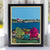 "Chairs Overlooking Ram Island Art Print 8"" x 10"" Framed Wall Poster"
