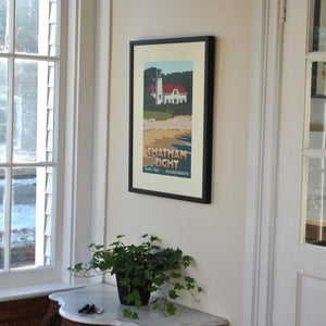 "Chatham Light Art Print 18"" x 24"" Framed Travel Poster - Massachusetts"