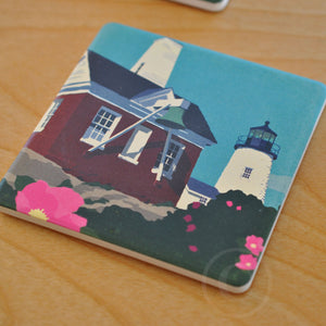 Pemaquid Bell Art Drink Coaster - Maine -Sold Out