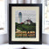 "Highland Light Art Print 8"" x 10"" Framed Travel Poster - Massachusetts"
