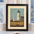 "Pemaquid Point Light Art Print 8"" x 10"" Framed Travel Poster - Maine"