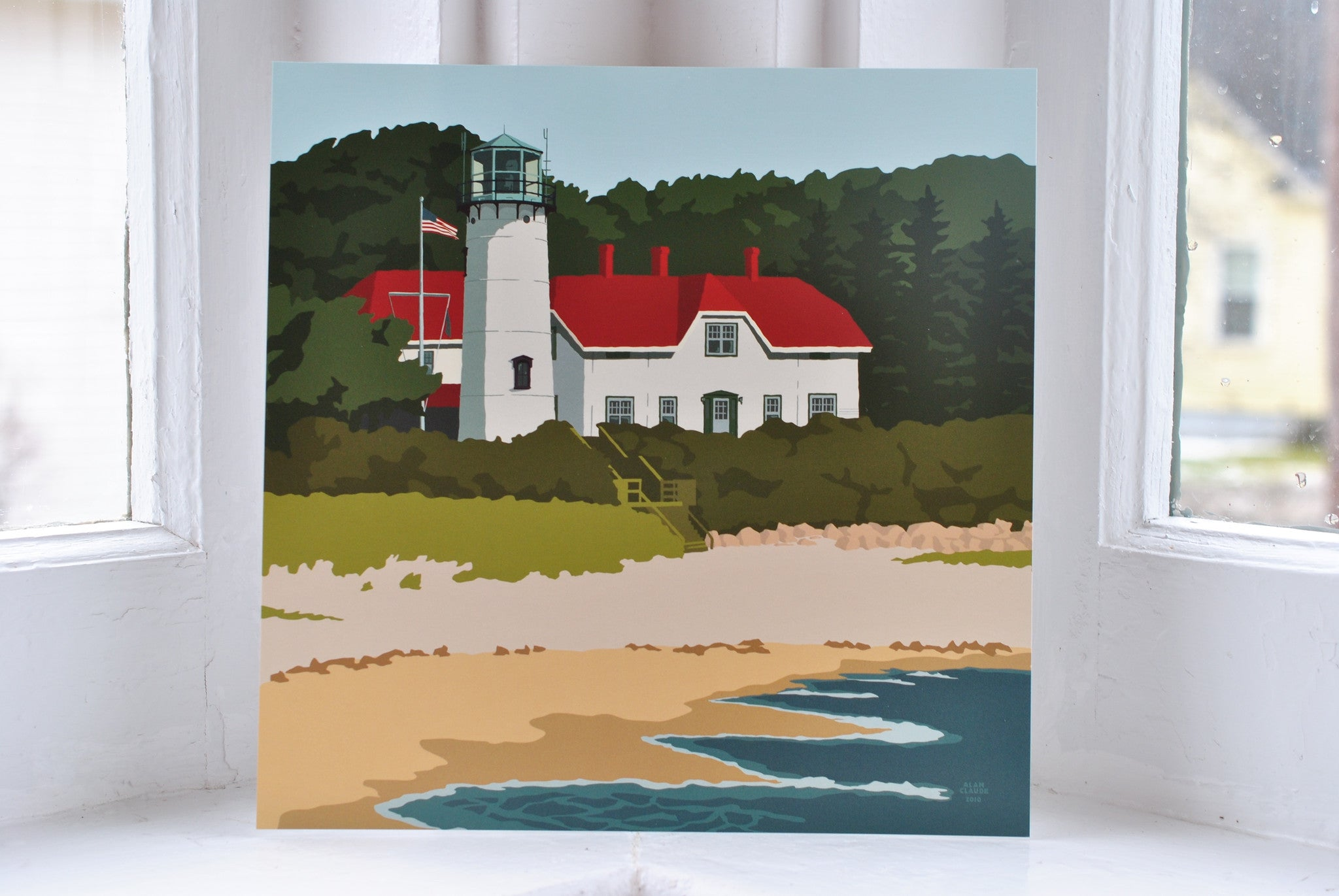 "Chatham Light Art Print 8"" x 8"" Square"