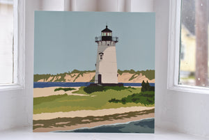 "Edgartown Light Art Print 8"" x 8"" Square"