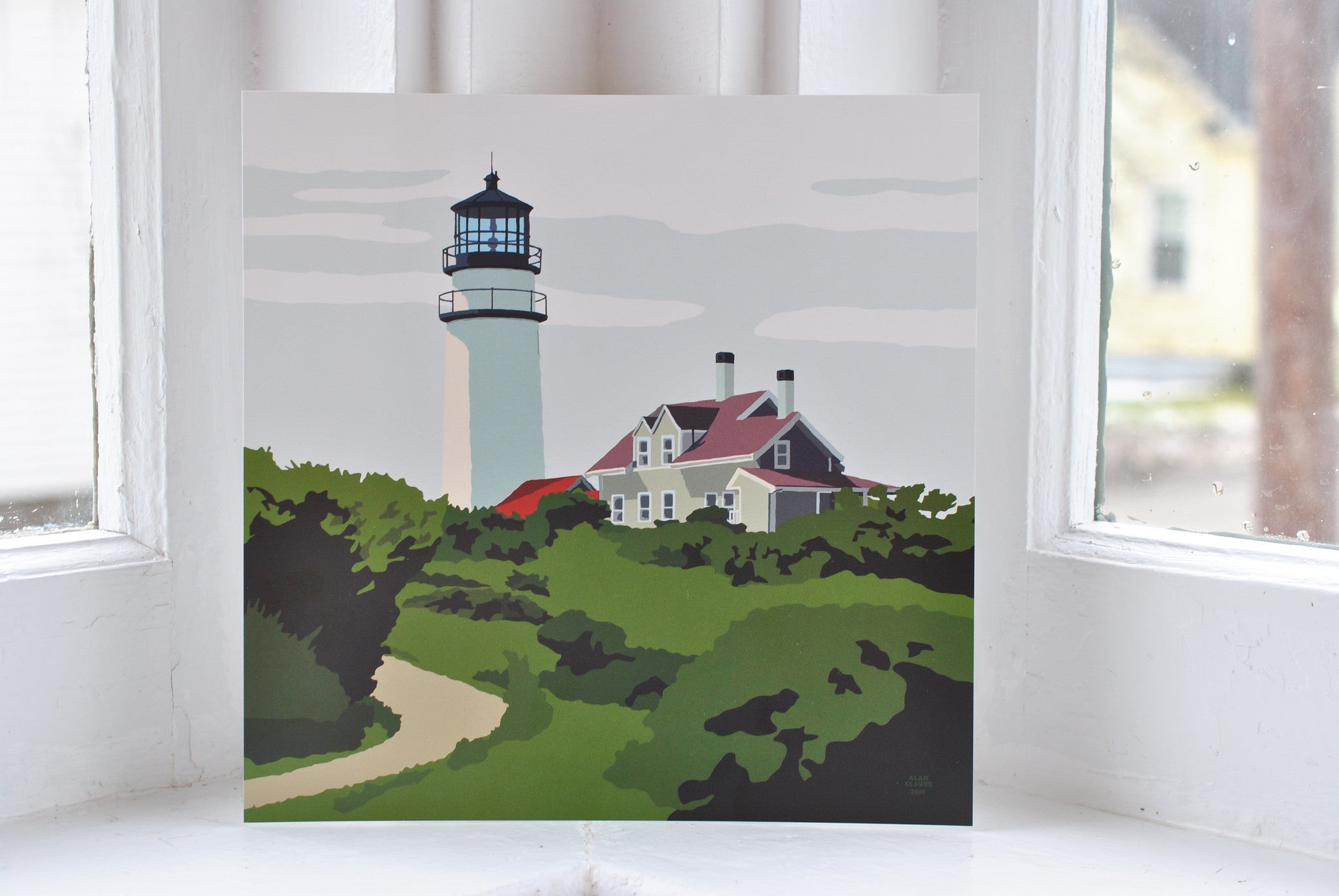 "Highland Light Art Print 8"" x 8"" Square"