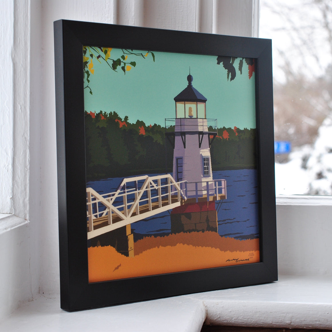 "Doubling Point Light Art Print 8"" x 8"" Framed"