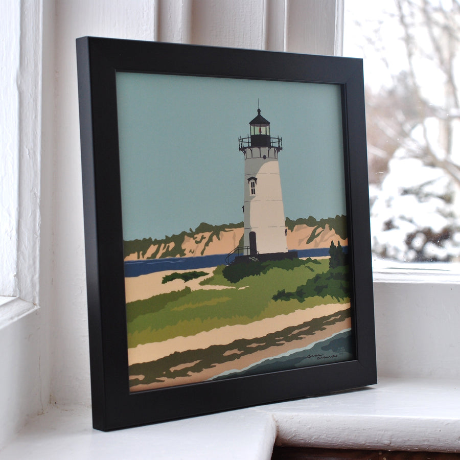 "Edgartown Light Art Print 8"" x 8"" Framed"