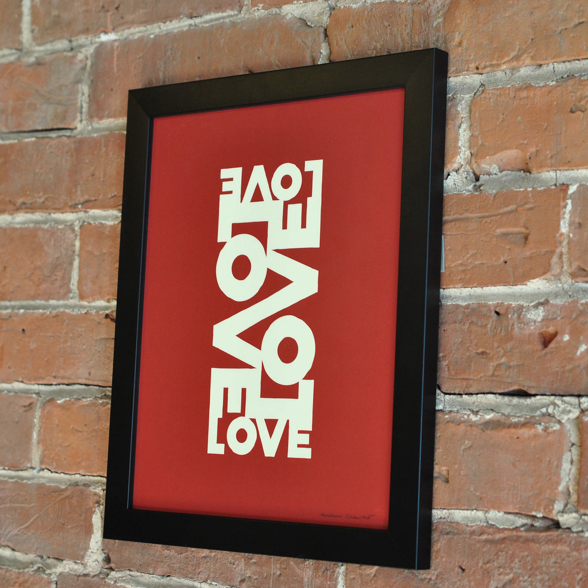 "Love Energy Red Art Print 8"" x 10"" Framed"