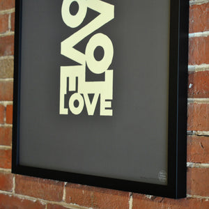 "Love Energy - Graphite Art Print 18"" x 24"" Framed Poster"