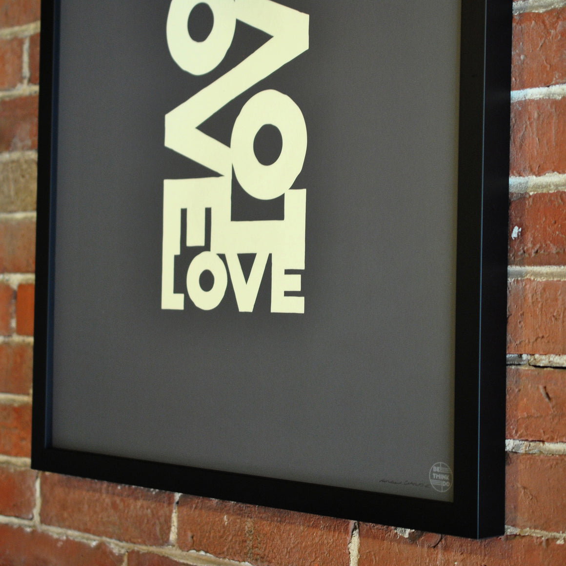 "Love Energy Graphite Art Print 18"" x 24"" Framed"