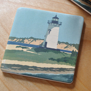 Edgartown Light Art Drink Coaster - Massachusetts