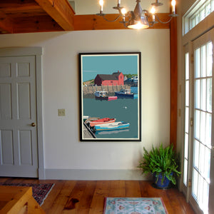 "Motif No.1 Art Print 36"" x 53"" Framed Travel Poster - Massachusetts"