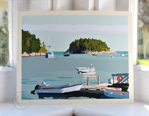 "I Am An Island - horizontal format - Art Print 8"" x 10"" Wall Poster - Maine"