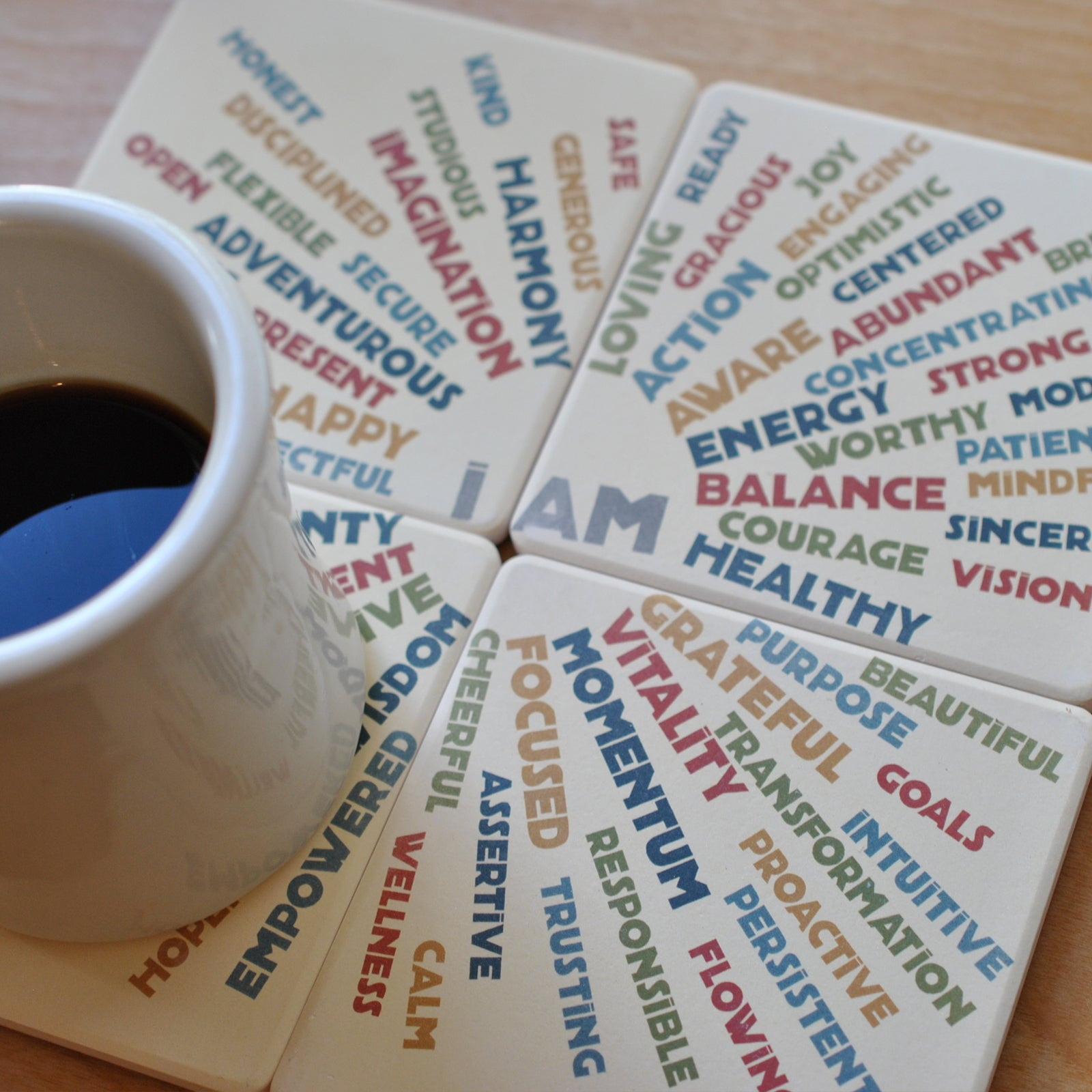 I AM BALANCE Drink Coasters