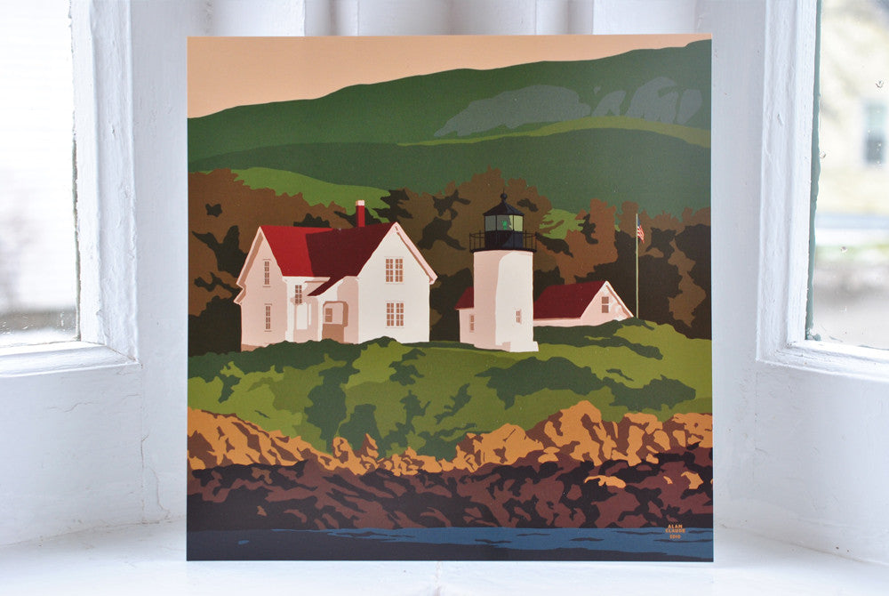 "Curtis Island Light Art Print 8"" x 8"" Square"