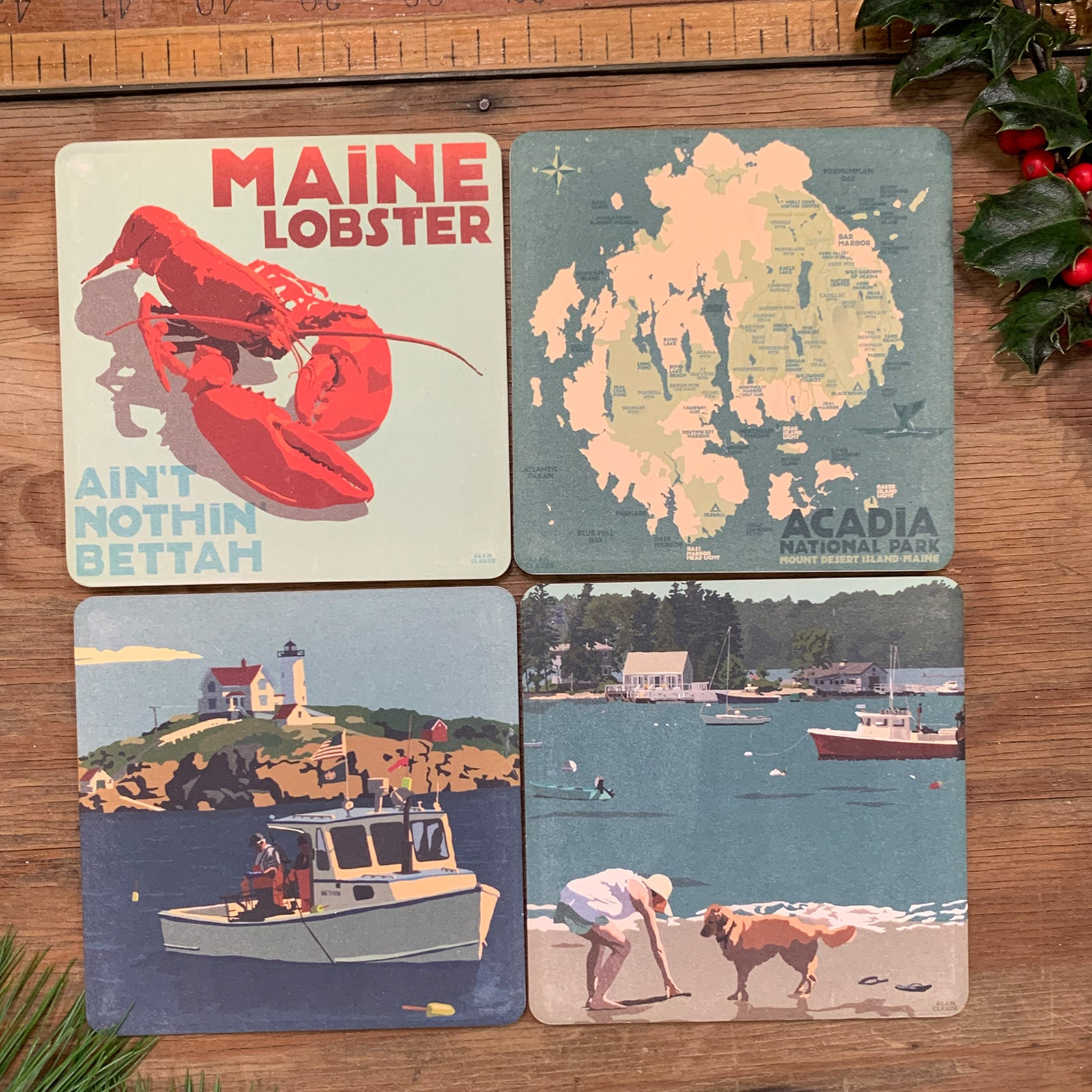 4 Coasters for $36 - Maine Living