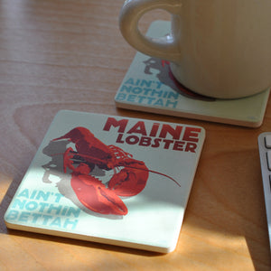 Maine Lobster Art Drink Coaster - Maine