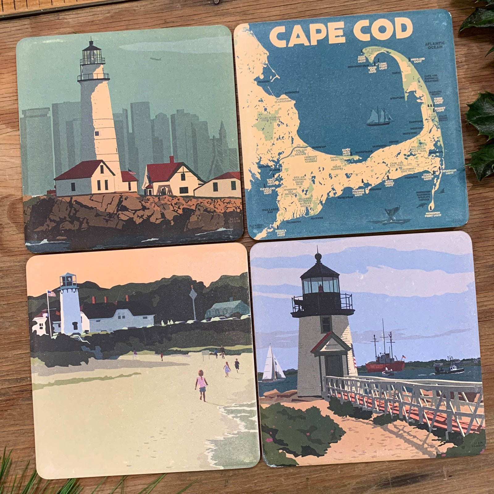 4 Coasters for $36 - Massachusetts Living
