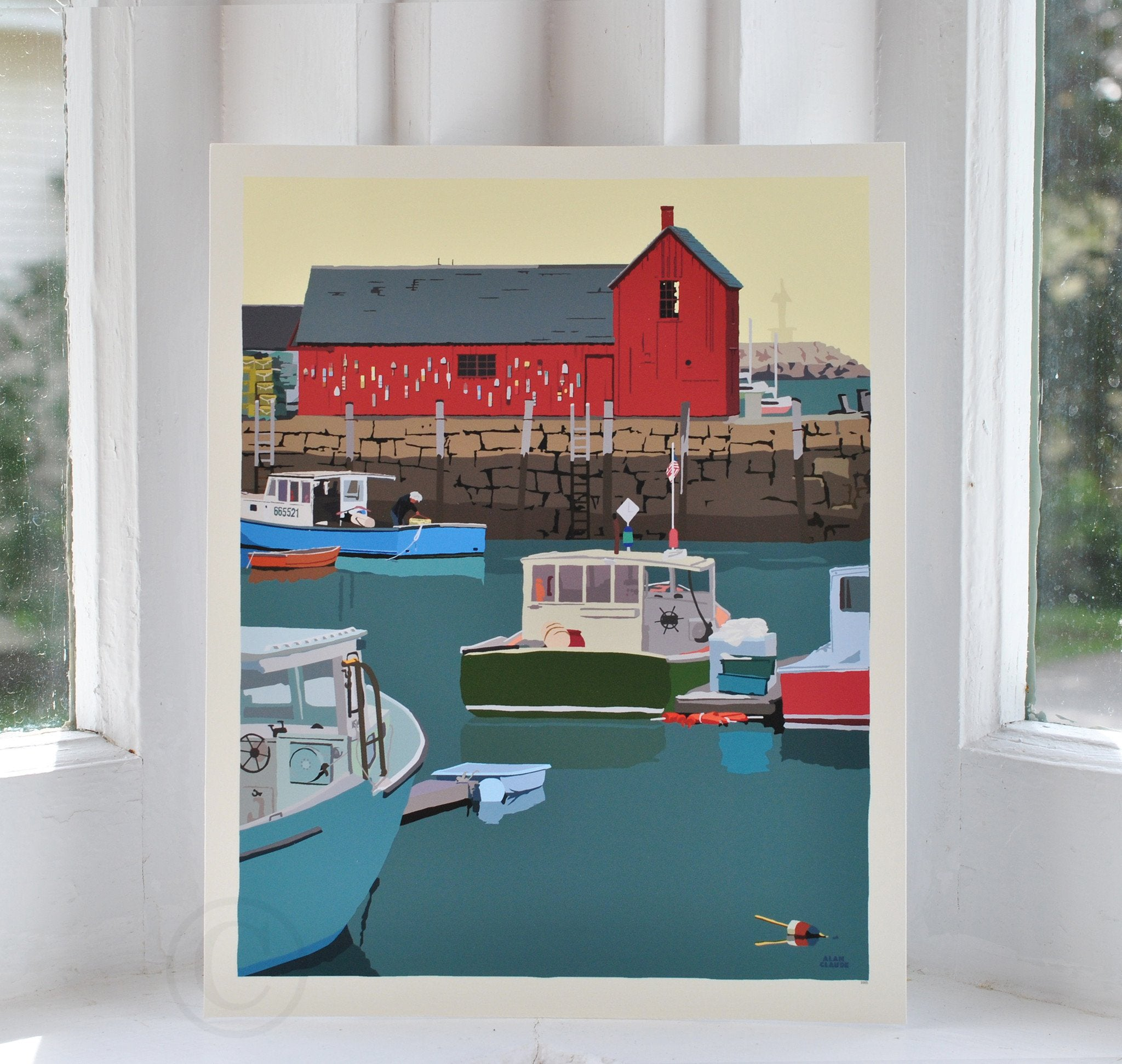 "Motif #1 version A Art Print 8"" x 10"" Wall Poster - Massachusetts"