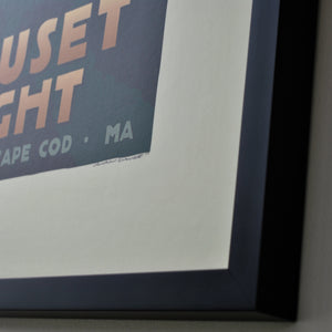 "Nauset Light Art Print 18"" x 24"" Framed Travel Poster - Massachusetts"