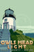 "Owls Head Light Art Print 11"" x 17"" Travel Poster - Maine"