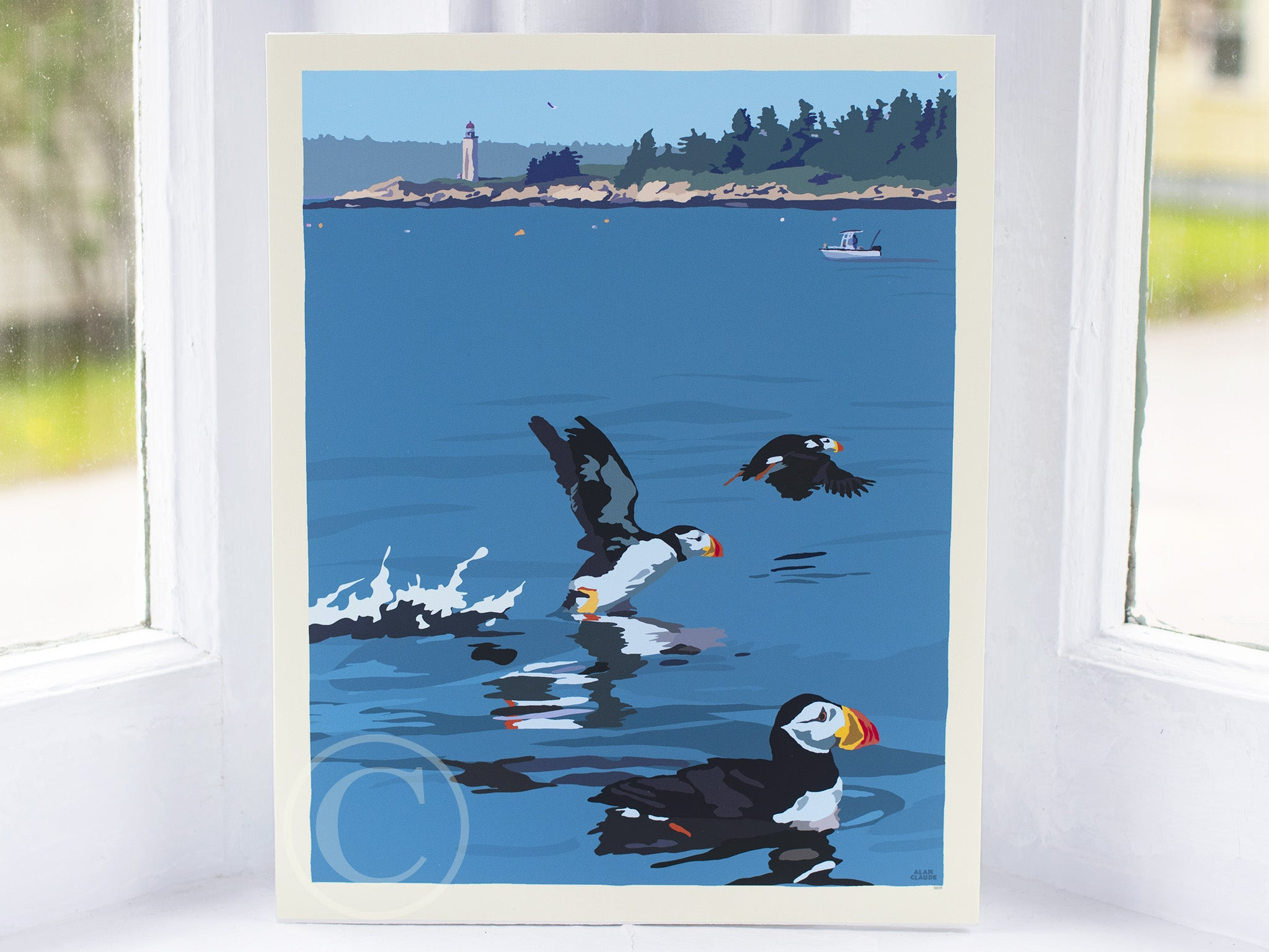 "Puffins At Franklin Island Art Print 8"" x 10"" Wall Poster"