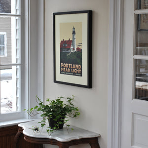 "Portland Head Light Art Print 18"" x 24"" Framed Travel Poster - Maine"