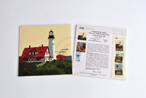 "Portland Head Light Art Print 8"" x 8"" Square"