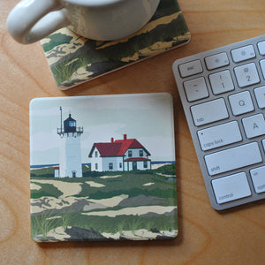 Race Point Light Art Drink Coaster - Massachusetts -Sold Out